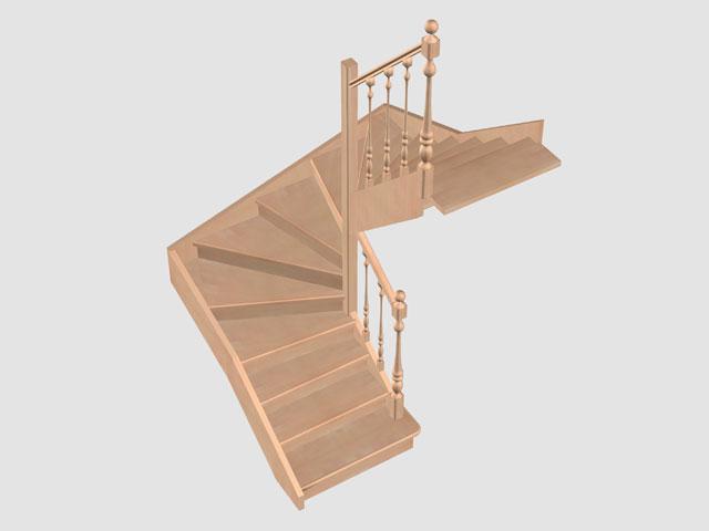 Лестницы из ясеня дуба лиственницы и